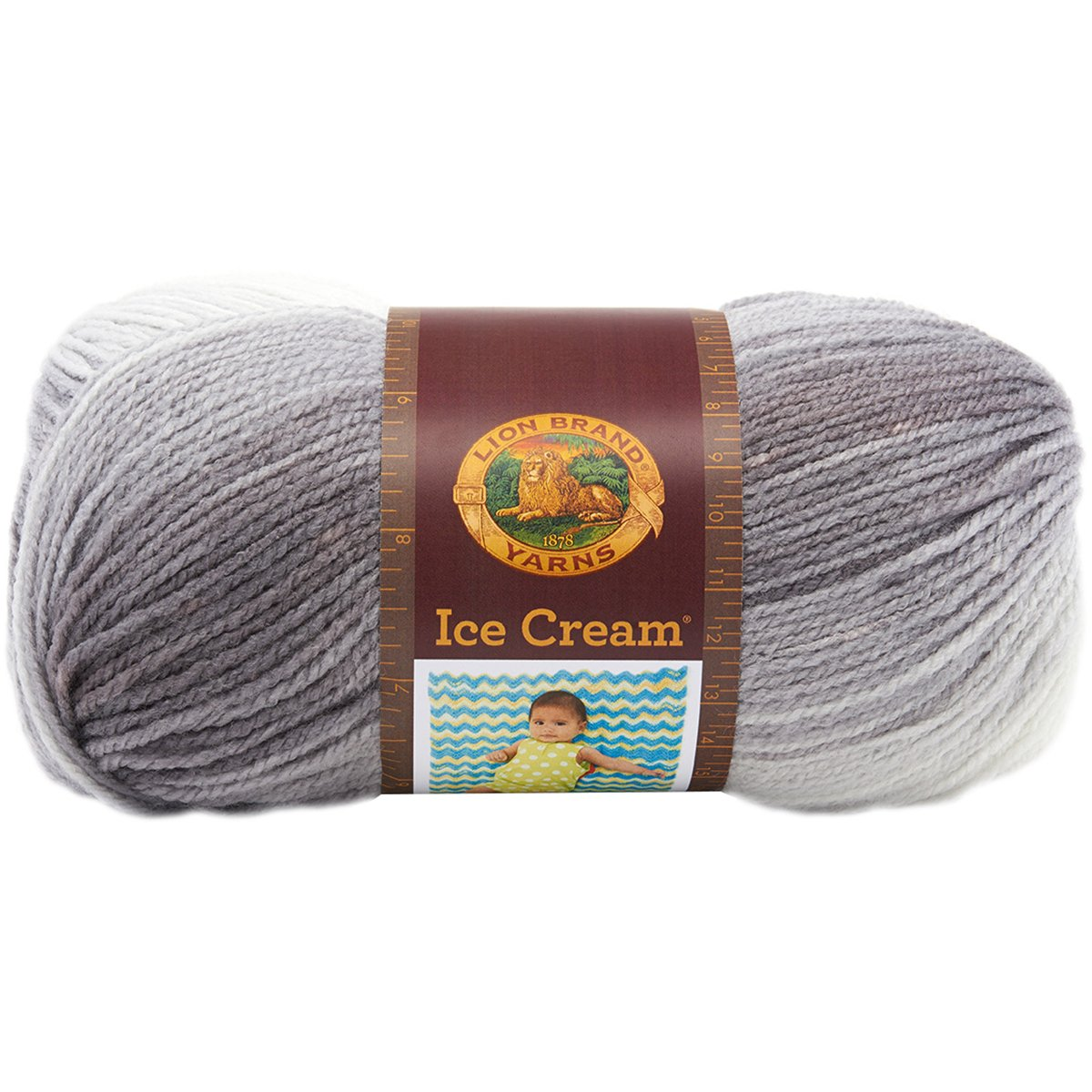 Lion Brand Yarn 923-201 Ice Cream Yarn, Cotton Candy