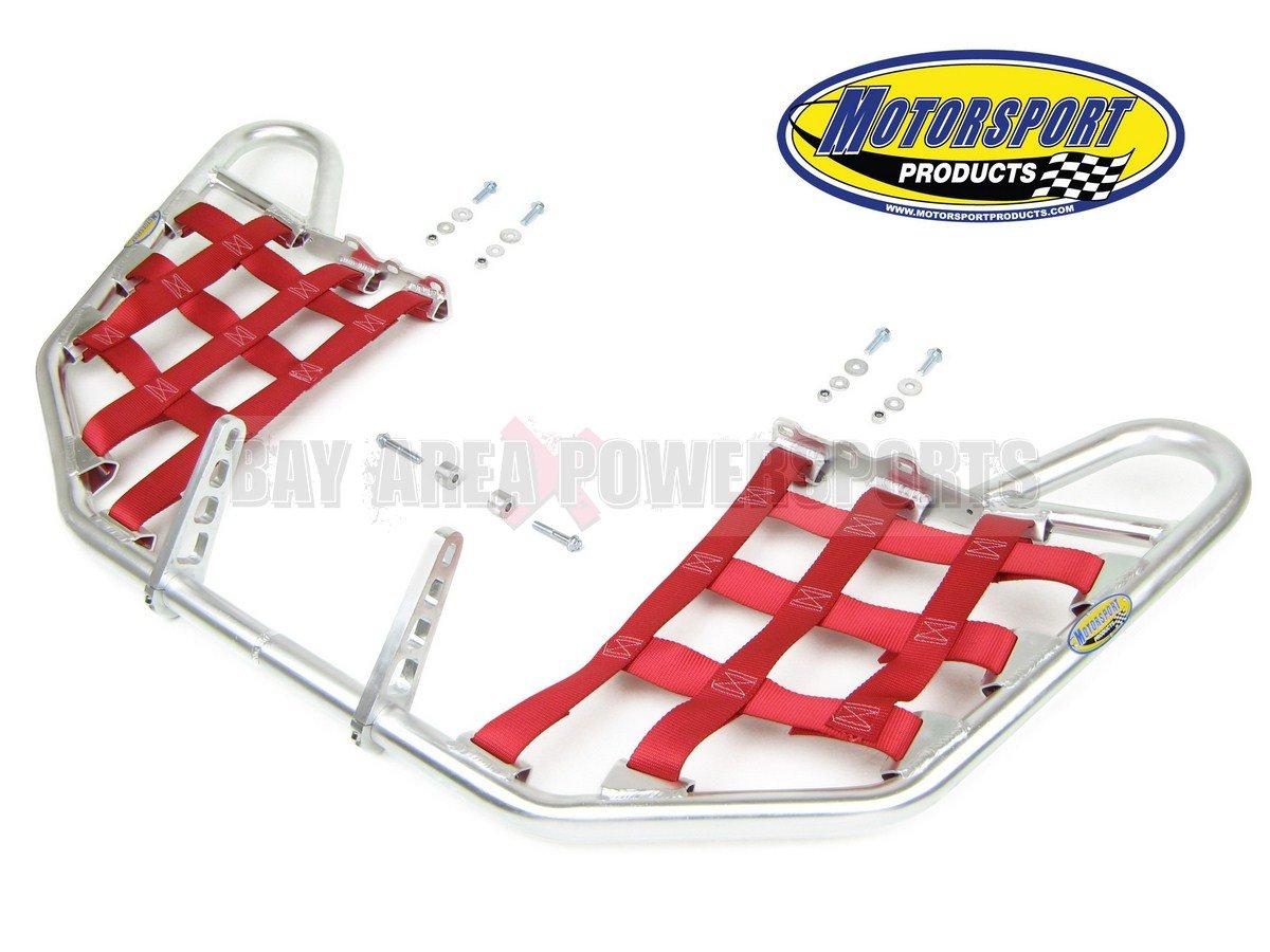 Yamaha Raptor 660 Yfm660R Nerfbars Atv Nerf Bars Silver Bars/Red Nets