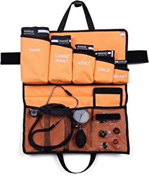 LotFancy 5 en 1 Esfigmomanómetro Aneroide Profesional con Doble Estetoscopio y 5 Puños de Tamaño, Tensiometro Monitor Manual de Presión Arterial Manual para Adultos, Niños con Estuche PortátiI: Amazon.es: Salud y cuidado personal