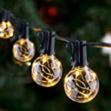 LED Outdoor String Lights - Novtech 38.5FT 30Bulbs G40 Globe String Lights - Waterproof Patio String Lights Outdoor Decorativ