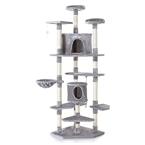 zoomundo Árbol Rascador para Gatos con Rascador Torre para Rascar de Sisal Natural como Cuerda y