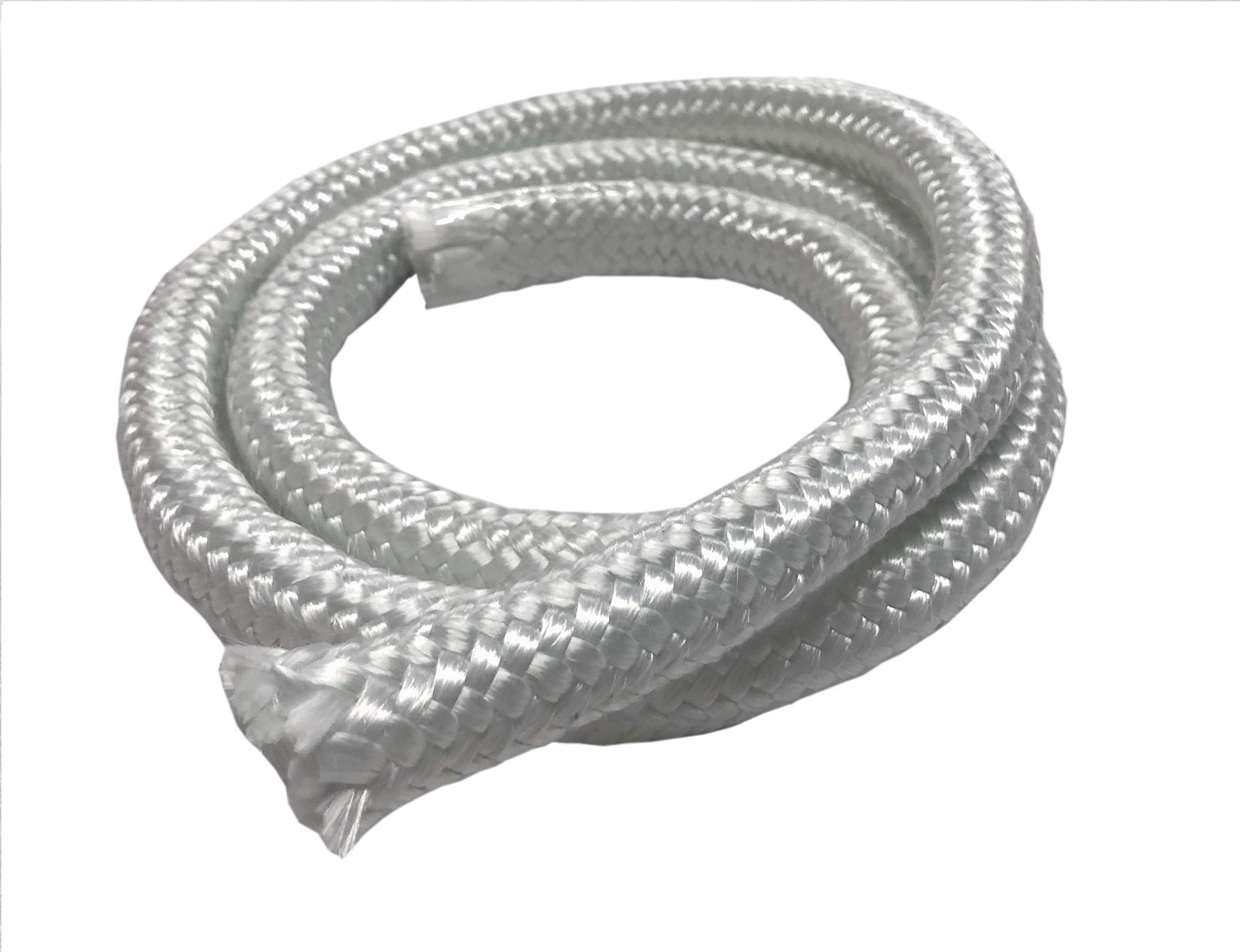 MinGlas Rope Seal - Fiberglass High Density Rope Gasket 3/4'' x 25 feet, Firm Round Braided, Stove Boiler Furnace Oven Kiln Door Seal Gasket