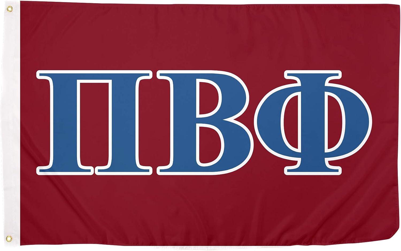 Pi Beta Phi Letter Sorority Flag Greek Banner Large 3 feet x 5 feet Sign Decor Pi Phi