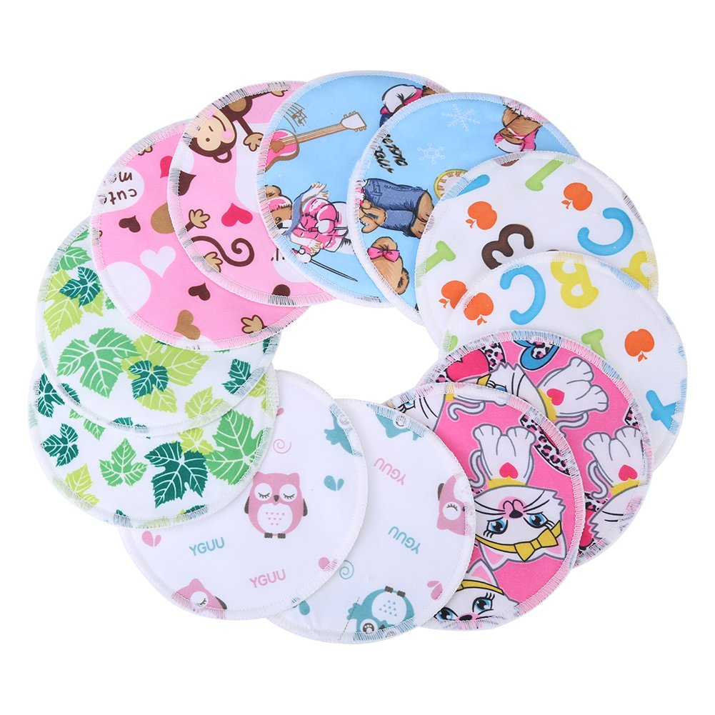 Organic Bamboo Nursing Pads Spill Washable Nursing Breastfeeding Pad Nursing Pads Reusable, Washable, Stay Dry Nursing Bra Pads with Eco Friendly huhushop