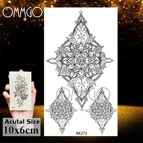 5Pcs- geométrica acuarela elefante etiqueta engomada del tatuaje ...