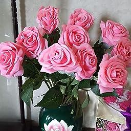 Amazon Yidarton 造花 ローズ バラの蕾 手作り ブーケ インテリア 本物そっくり 枯れない花 結婚式 プロポーズ 誕生日 バレンタインデー 母の日 家庭 転居 お祝い お見舞い プレゼント 飾り 装飾 10本セット 造花 オンライン通販