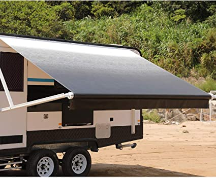 Amazon Com Awnlux Rv Canopy Awning Fabric For 21 Feet Carefree Roll Up Awning Fabric Size 20 Feet 2 Inch Black Color 100 Waterproof Automotive