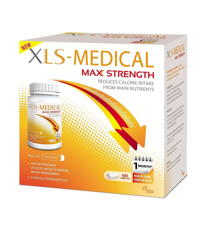 2 X XLS Medical Max Strength Diet Pills for Weight Loss (240 Pills)