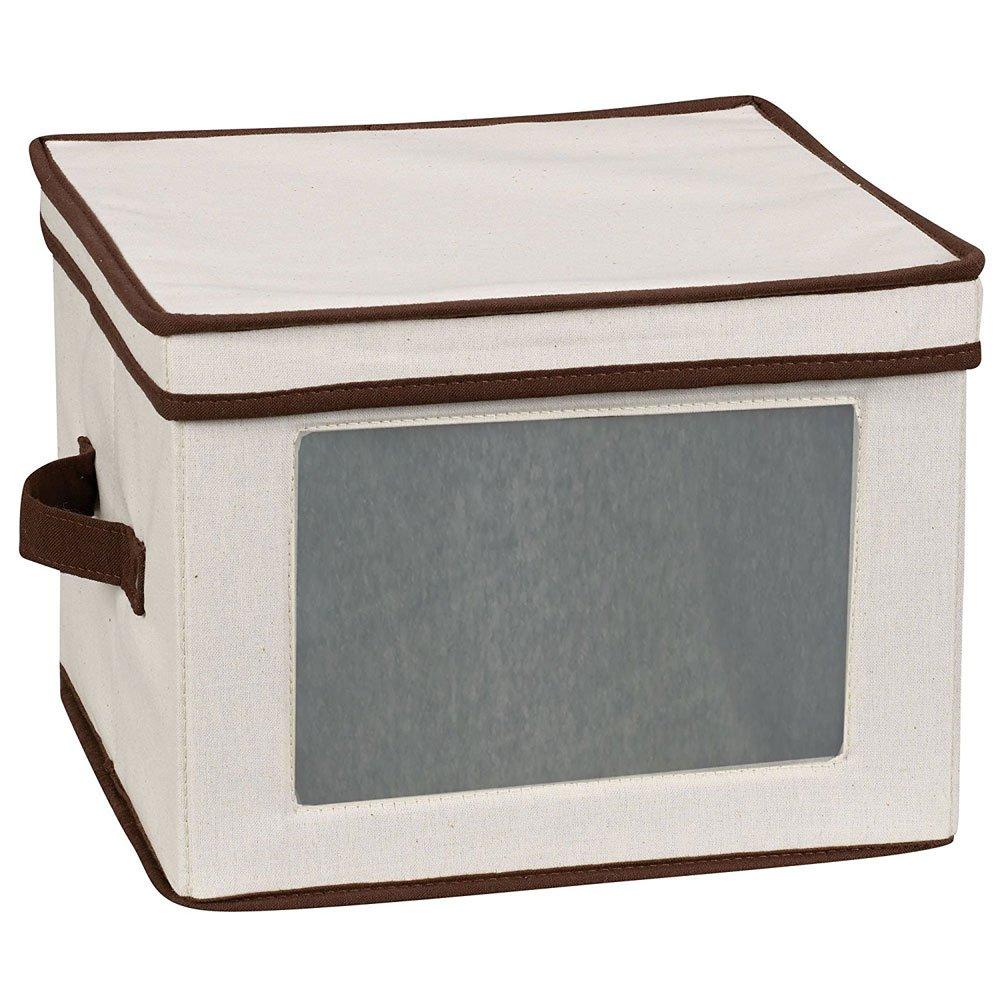 HomyDelight Vision Canvas Dinner Plate Storage Box 3.5 lbs 12.25'' 9'' 12.25''
