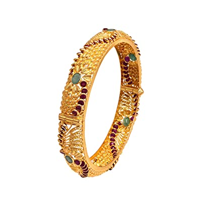 glowroad for plated ruby emerald traditional women at large bangles gold az
