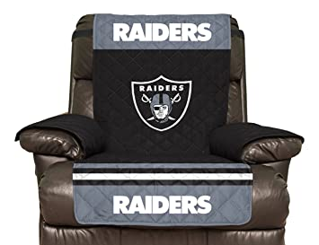 NFL Oakland Raiders Recliner Reversible Furniture Protector With Elastic  Straps, 80 Inches By 65