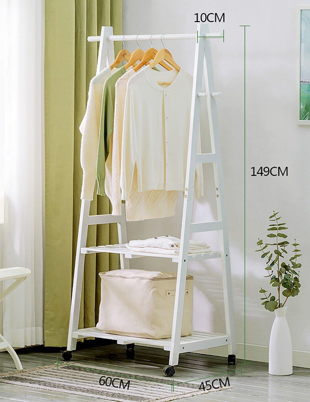 Farbe : Braun, größe : 60 GJymj Garderobe Massivholzboden ...