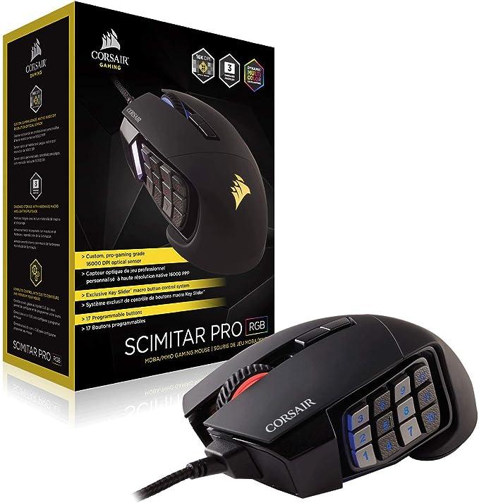 Corsair Scimitar PRO - Ratón (mano derecha, Óptico, USB ...