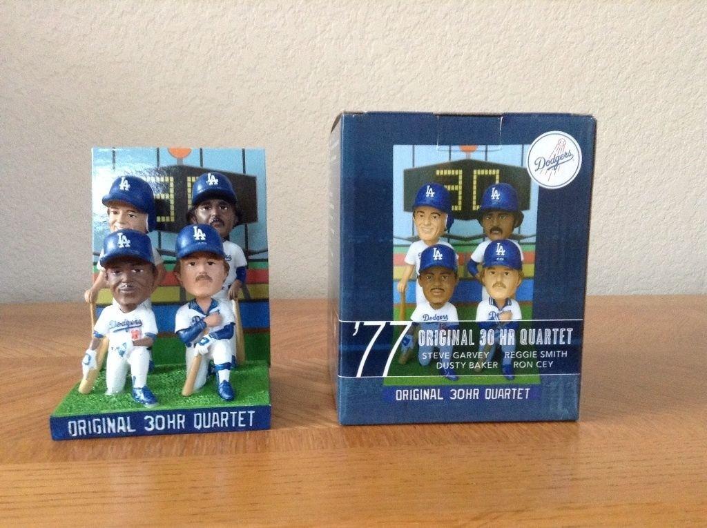 Steve Garvey Ron Cey Dusty Baker Reggie Smith 30 HOME RUN HR Quartet Bobblehead Dodgers SGA