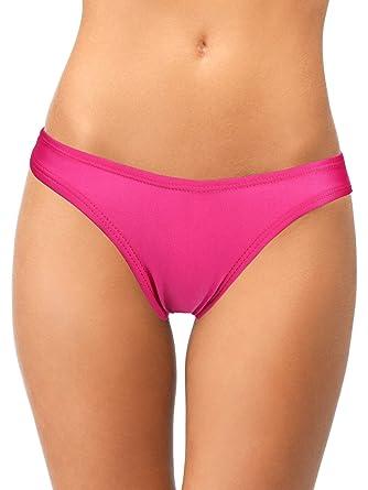 7aa62f22cf7 Yaomiao Women's Bikini Bottom Brazilian Cut Bikini Underwear Solid Color Thong  Bikini Bottom for Women Girls