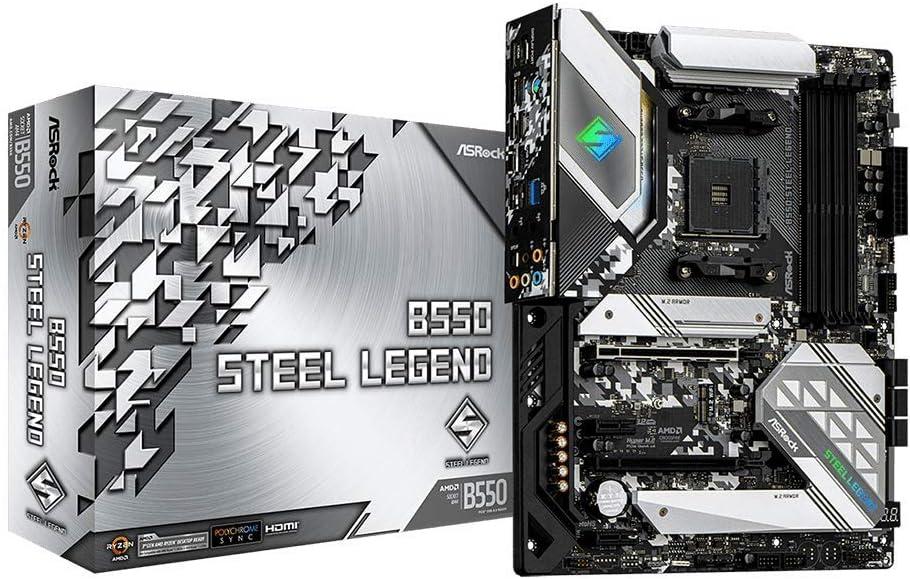 ASRock B550 Steel Legend Supports 3rd Gen AMD AM4 Ryzen/Future AMD Ryzen Processors Motherboard