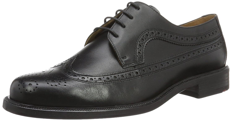 Lloyd Kay Extra-Weit, Zapatos de Cordones Brogue para Hombre 48 EU|Schwarz (Schwarz)
