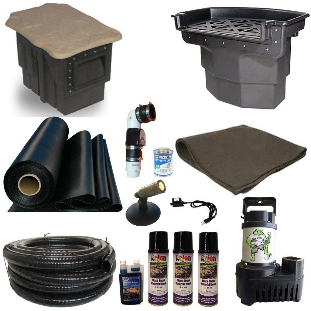 Patriot Complete Pond Kit Atlantic Pondbuilder Filters 5200 GPH Pump 20 x 30 LH0 by Patriot