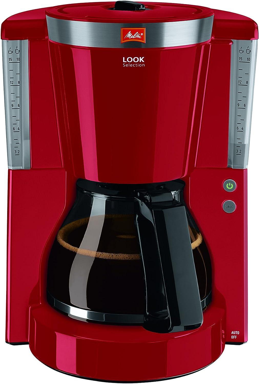Melitta 1011-00 Cafétera de Filtro con Jarra de Vidrio, Función de Conservación de Temperatura, 1.25 litros, Rojo: Amazon.es: Hogar