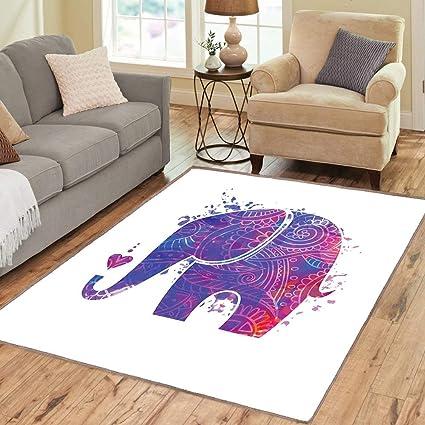 Amazon.com: Rug, Floor Mat Rug, Yoga, Area Rug, Ethnic ...