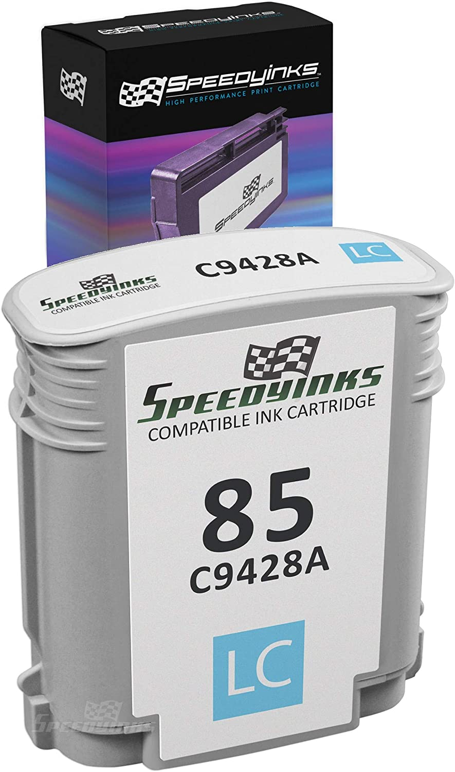 Speedy Inks Remanufactured Ink Cartridge Replacement for HP 85 / C9428A (Light Cyan)