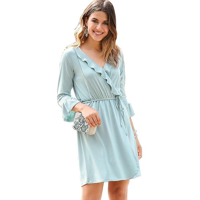 VENCA Vestido Corte Cruzado Mujer by Vencastyle - 014082: Amazon.es: Ropa y accesorios