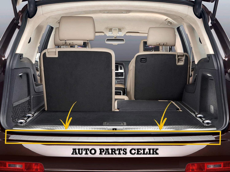 Sconosciuto per Audi Q7 SUV 4L 2010-2015 Acciaio Inox Cromato Paraurti Posteriore Protettore Soglia Copertura Spazzolato