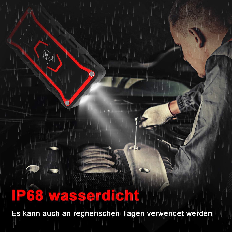 Starthilfe Powerbank 1500A Spitzenstrom 20000mAh Auto Starthilfe LED Taschenlampe IP68 Wasserdicht F/ür Alle Benzinmotor oder 7,0L Dieselmotoren Batterie Auto Starthilfe mit QC.30 Ausgang