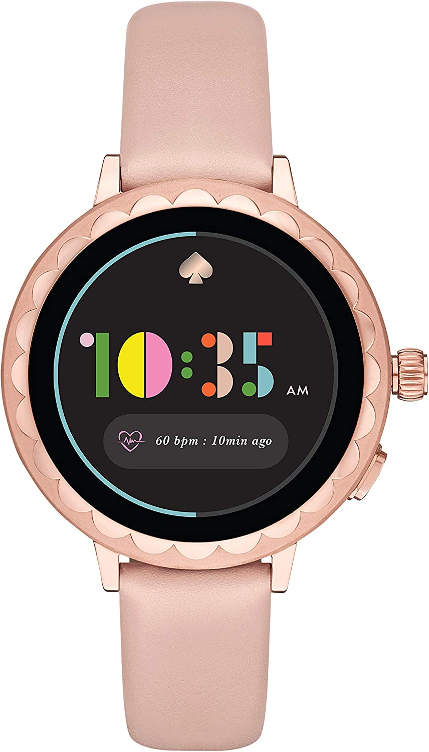 Kate Spade New York Womens Scallop Smartwatch 2 powered with Wear OS by Google- pairs wirelessly with both iPhones and Android