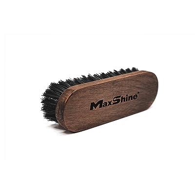 Maxshine Leather Nylon Bristle Brush for Car Detailing Carpet Upholstery: Automotive