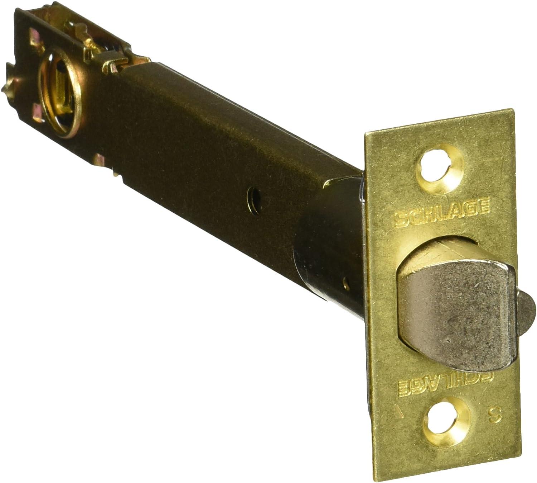"Schlage 16-126 Brass 5/"" Replacement Deadlatch with 1 x 2 1//4/"" Square Corner"