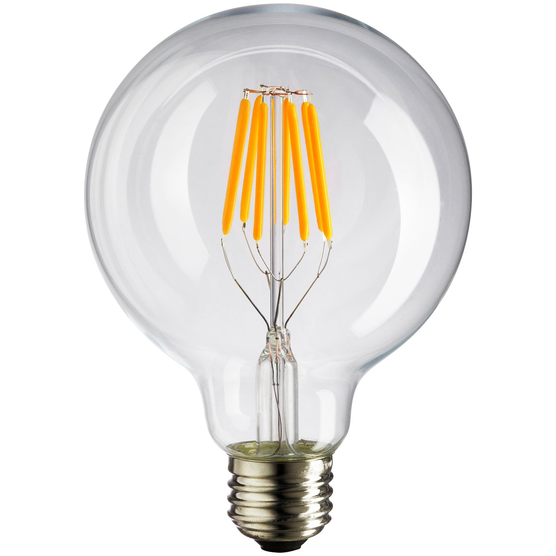 Light Bulb Medium Sunlite LED Vintage G30 Globe 6W Warm White 40W Equivalent E26 Base