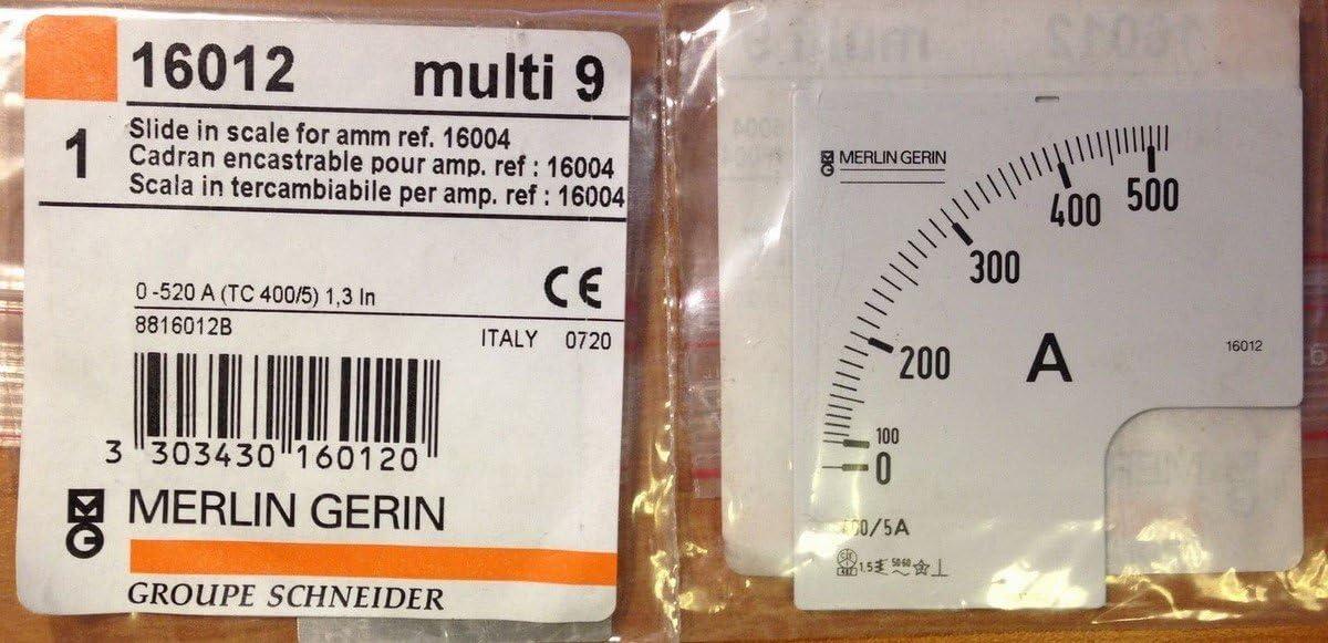 Schneider elec pbt pm1 43 01 Escala 0-800a para amper/ímetro