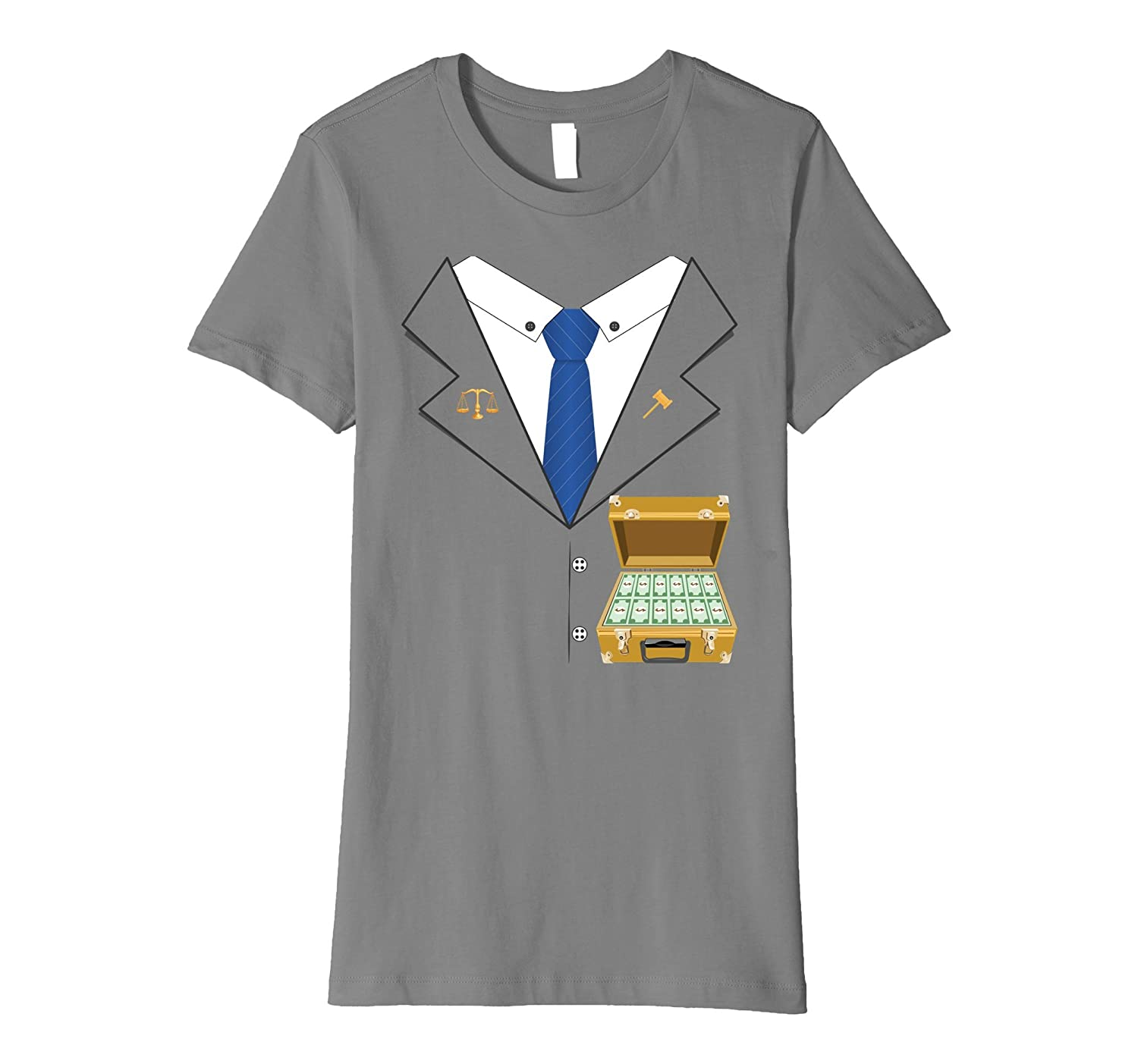 Lawyer Halloween Costume Premium T-shirt - Money Briefcase