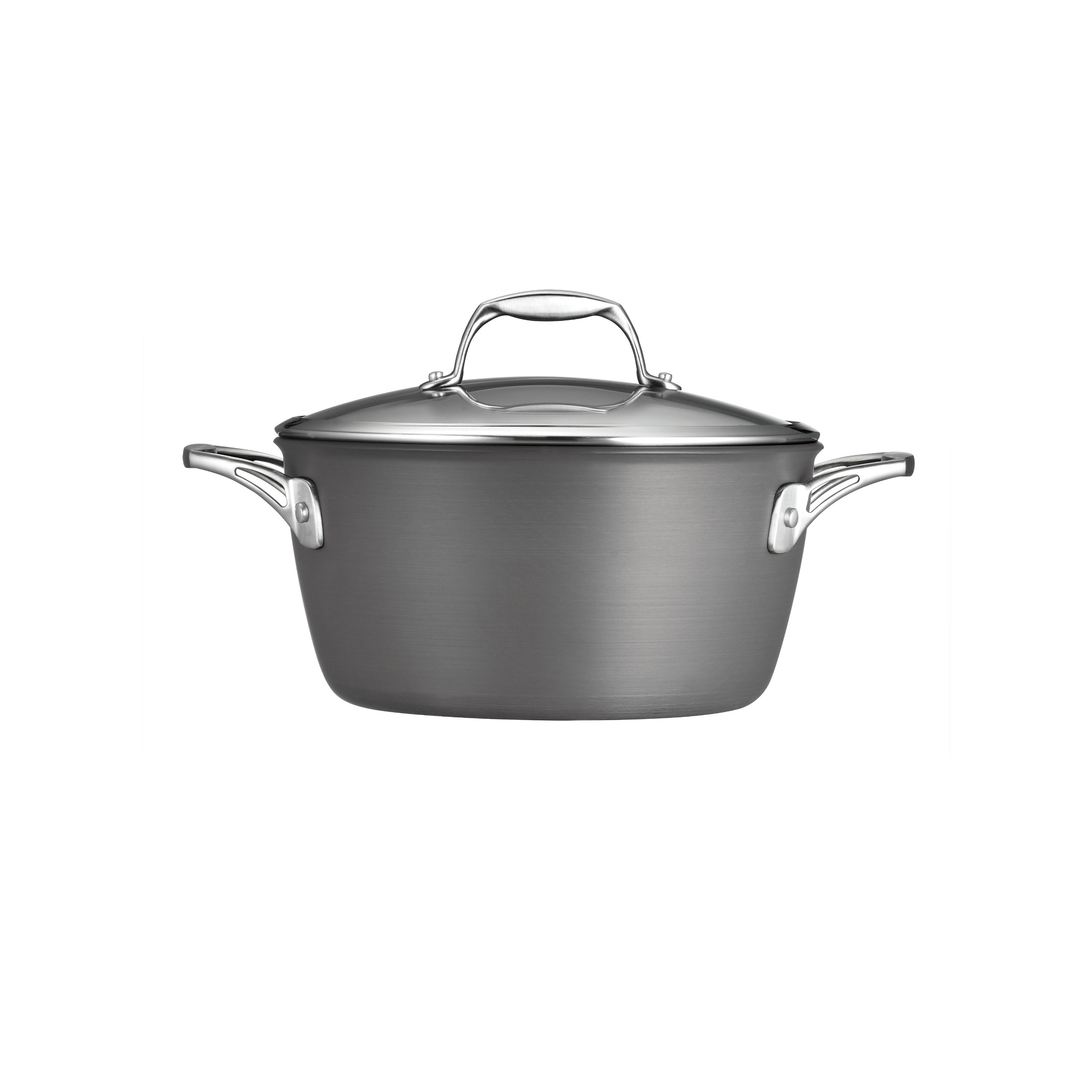 Tramontina 80123/042DS  Gourmet Heavy-Gauge Aluminum Nonstick Covered Dutch Oven, 5-Quart, Hard Anodized by Tramontina (Image #1)