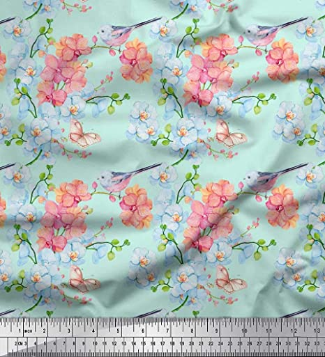 """Birds Print Polyester Fabric 42/""""� Wide Supply Fabrics Crafting Sewing By The Ya"""