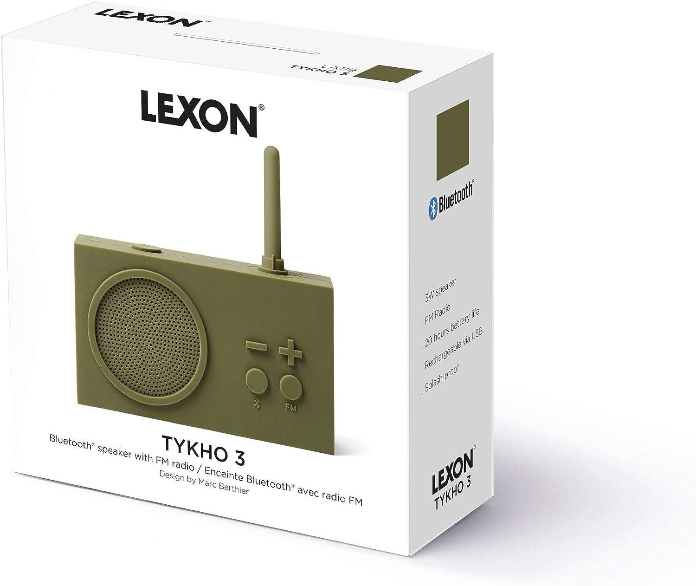 Silicone Rubber Case Autonomy 20 Hours Mastic Splash Proof IPX4 Lexon Tykho 3 FM Radio 5W Bluetooth Speaker