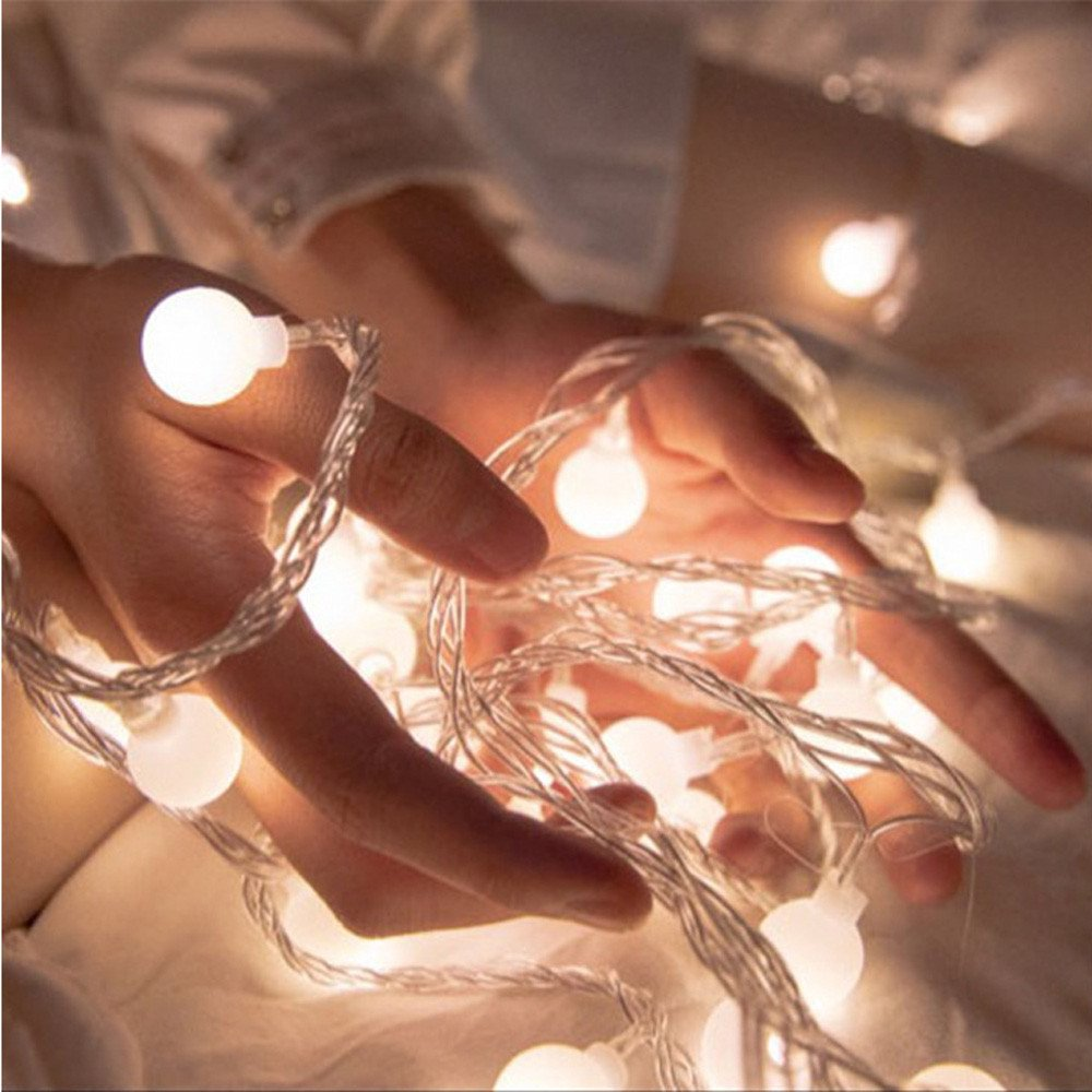 Nufelans_String Light 2.5M 20LED Fairy Lamp for Window Curtain Lights String Lamp Decorative Lights for Party Outdoor (White)