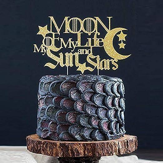 Moon of My Life My Sun and Stars - Decoración para tartas ...