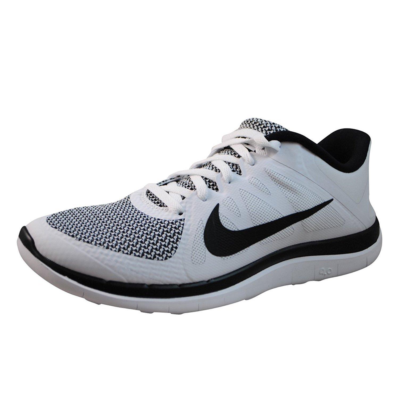 reputable site 1efdc 3bacd Amazon.com | Nike Free 4.0 V4 White Black 642197 100 (8 ...