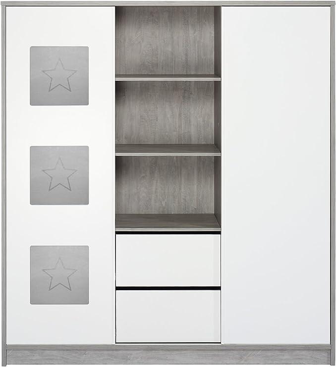 Schardt 065812200 Armario, con estante Central y 2 puertas correderas, Eco Star: Amazon.es: Bebé