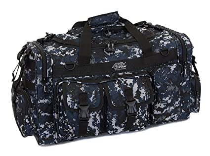 b9eee052f1b7 Mens Large 26 quot  Inch ACU Navy Digital Camo Duffel Duffle Military Molle  Tactical Gear Shoulder