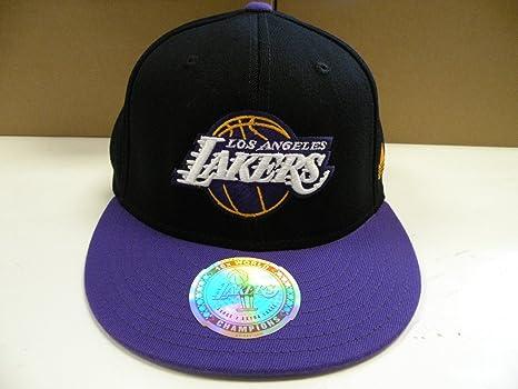 Image Unavailable. Image not available for. Color  Adidas NBA LA Lakers  Custom Black Purple 2 Tone Flex Cap ... 96dd05b1e