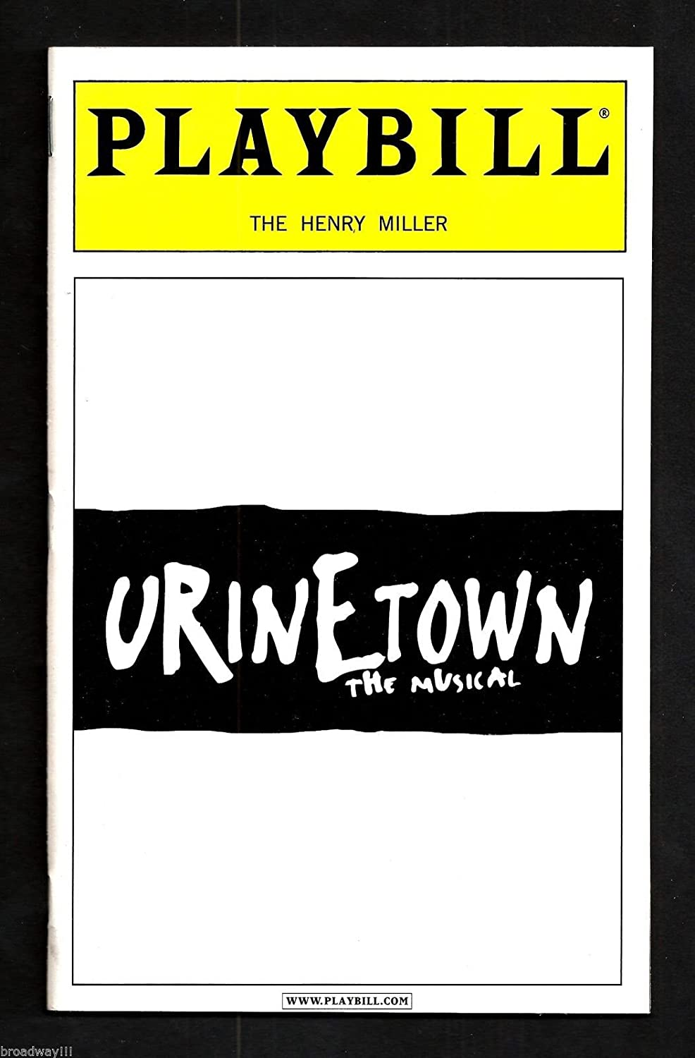 John Cullum 'URINETOWN' Jeff McCarthy / Spencer Kayden 2001 Broadway Playbill