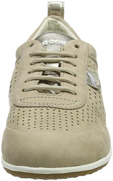 Geox d vega a scarpe da ginnastica basse donna amazon shoes grigio pelle