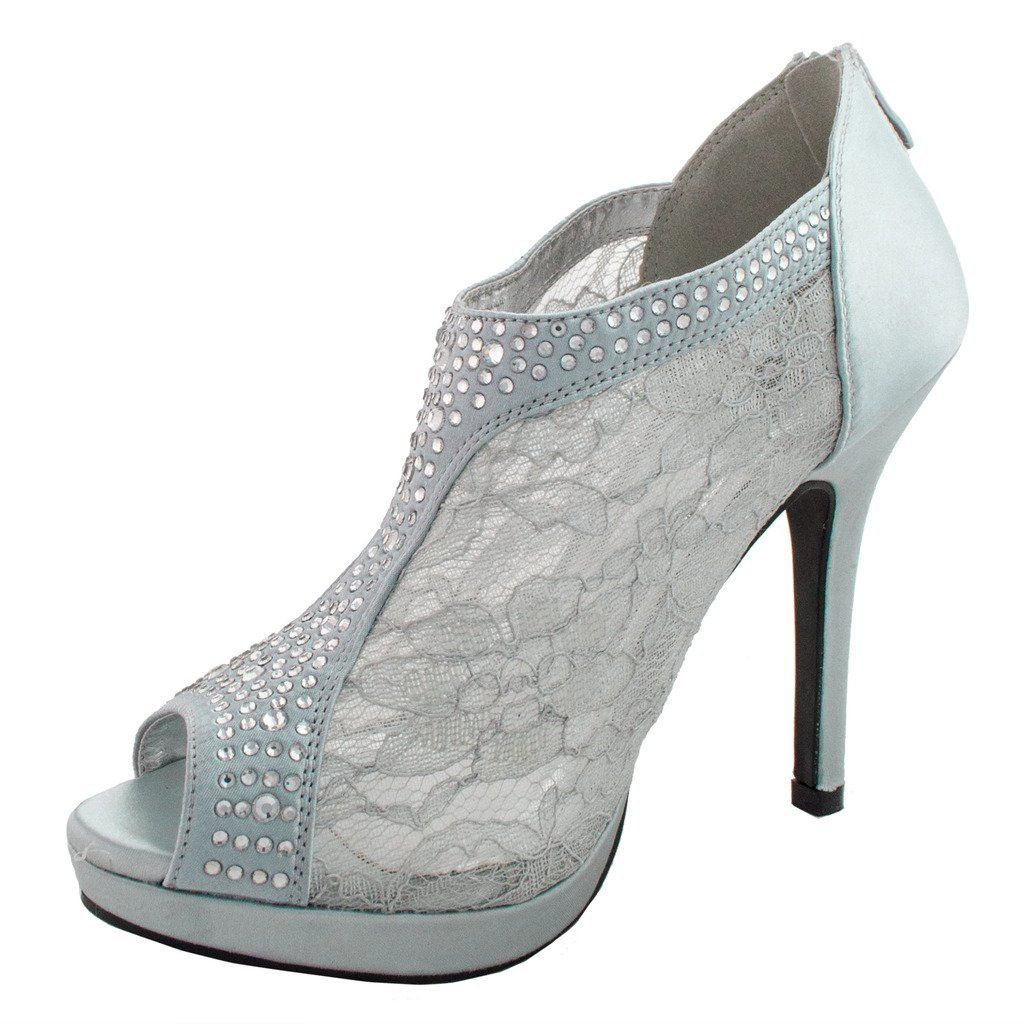 18d6228ac7 Amazon.com | DeBlossom Womens Yael-9 Dress Pumps Shoes, Silver, 6 | Pumps