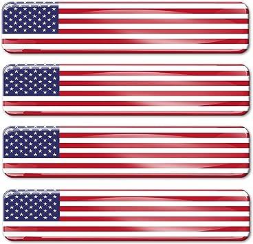 Biomar Labs 4 X Aufkleber 3d Gel Silikon Stickers Vereinigte Staaten Amerika America United States Usa Flagge Fahne Flag Autoaufkleber F 27 Auto