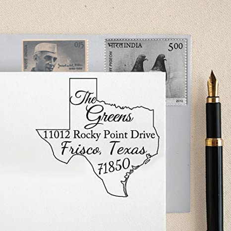 amazon com texas self inking custom return address stamp texas