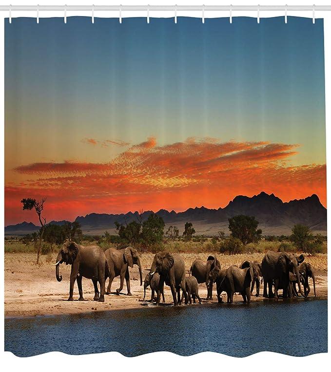 Abakuhaus Elefante Cortina De Baño, África Safari ...