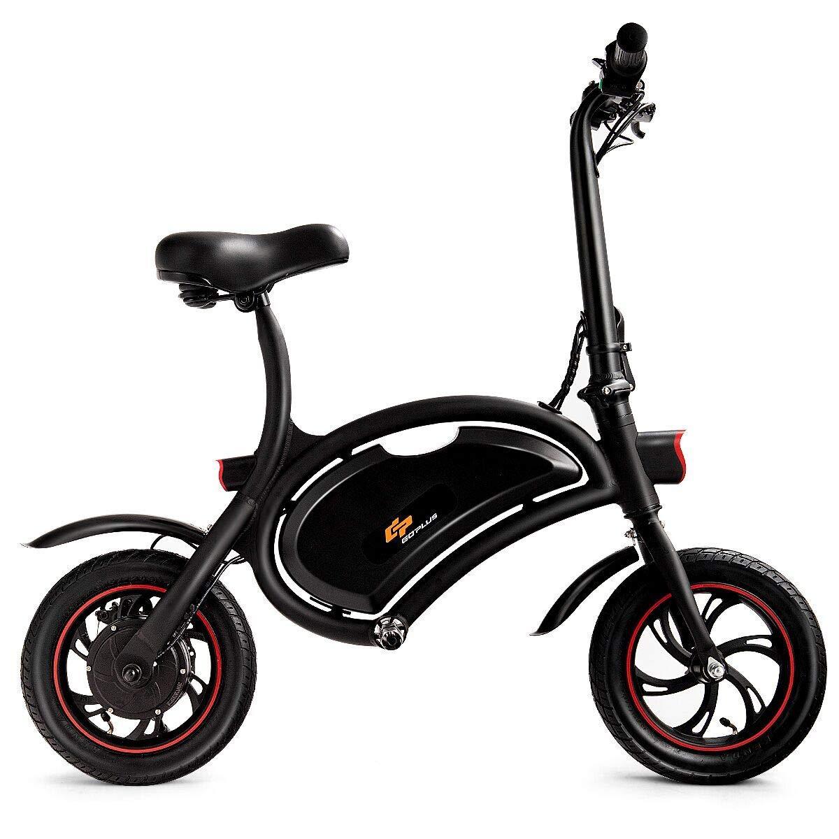 Goplus Folding Electric Bike 350w Lightweight E Bike Mini